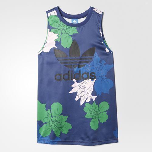 Adidas Originals Women's Floral Engraving Tank Top Siz Small FREE SHIPPIN AZ6309