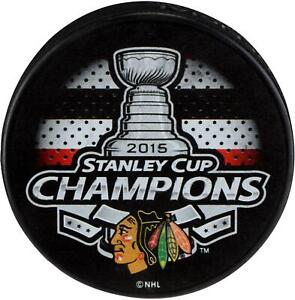 Chicago-Blackhawks-Unsigned-2015-Stanley-Cup-Champions-Logo-Hockey-Puck