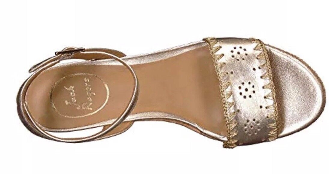 NIB Jack Rogers Lennon Platinum Leder Wedges Wedges Leder 1118WW0001 - 9.5M ecc76b