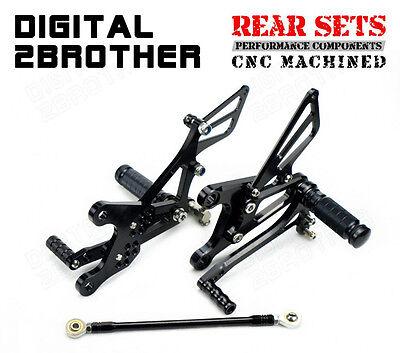Rearsets Rear Sets Footpegs CNC Adjustable For Kawasaki ZX636 2005-2006