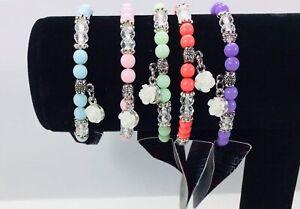 Paparazzi-jewelry-charm-stretch-bracelet-rose-heart-butterfly-5-034-wrist-beads-new