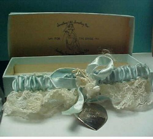 Something Blue & something borrowed Bridal lace g