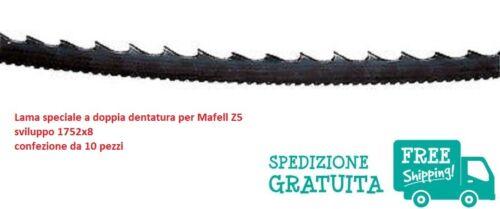 Pack de 10 sierras de cinta doble dentado para Mafell Z5 desarrollo 1752x8 mm