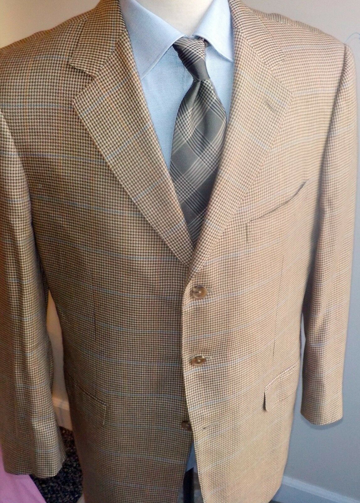 Ermenegildo Zegna Barneys NY Silk & Cashmere Side Vent  Blazer IT 54  US 42-44