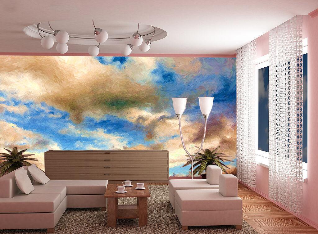 3D Empty bluee sky 1 WallPaper Murals Wall Print Decal Wall Deco AJ WALLPAPER