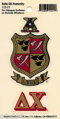 Delta Chi, ΔΧ, Crest & Letter Vinyl Decal Combo  Indoor/Outdoor Use NEW