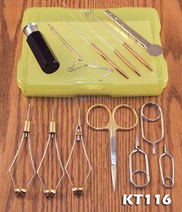 13 Piece Fly Tying Tool Kit  w/ case - #KT116