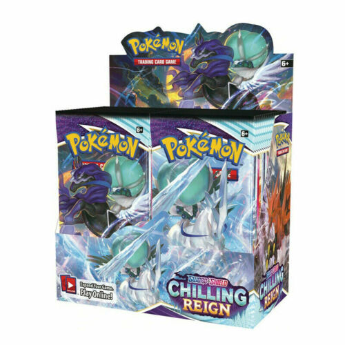 Chilling Reign Booster Box Display 36 Packs Pokemon TCG Sword and Shield