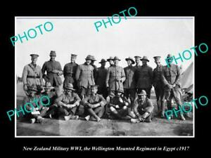 POSTCARD-SIZE-PHOTO-NEW-ZEALAND-MILITARY-WWI-WELLINGTON-REGIMENT-IN-EGYPT-1917