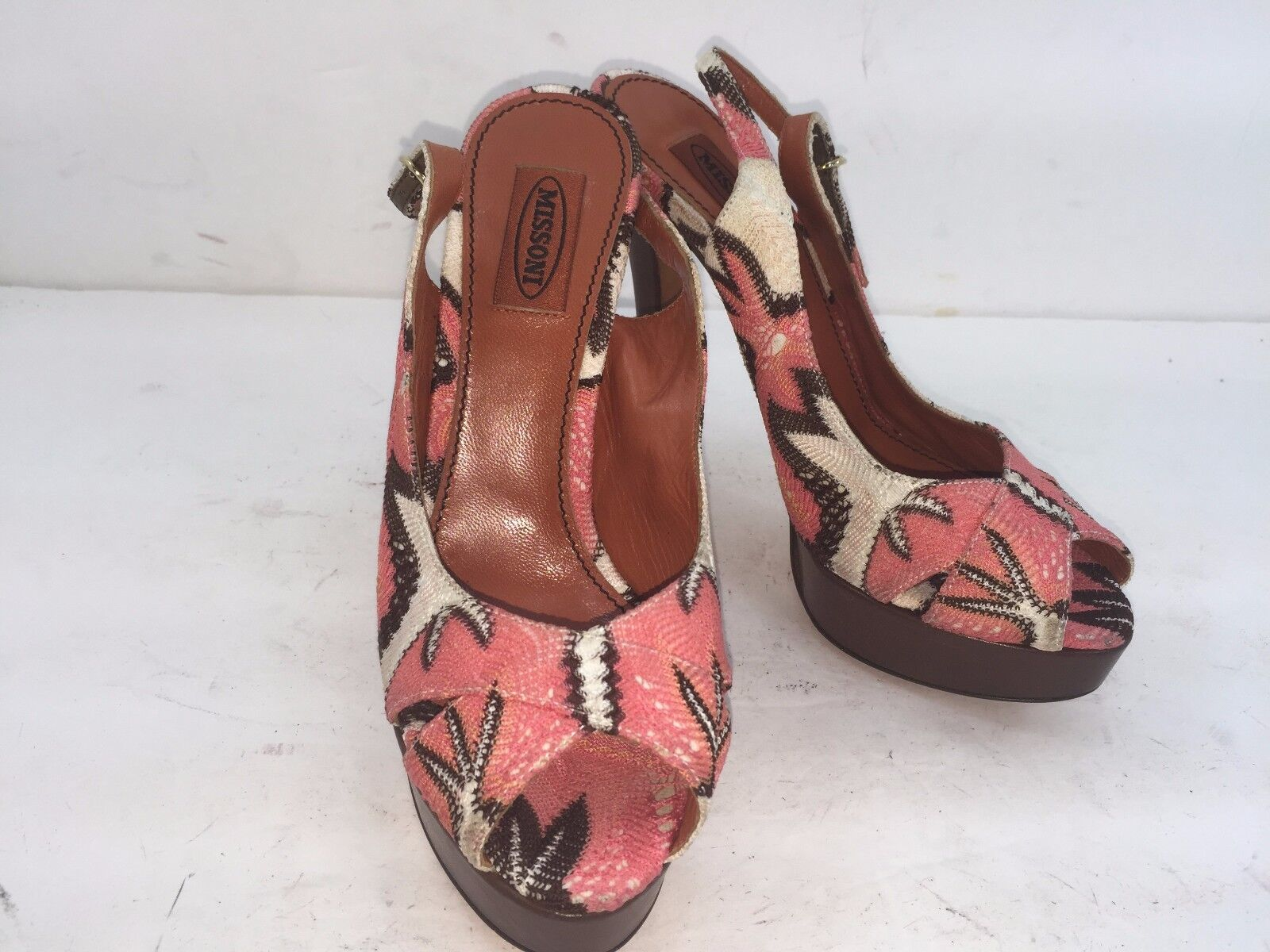 MISSONI HEEL PUMP SIZE 36.5 NEW MSRP MEDE IN ITALY MULTICOLOROT MSRP NEW 425 9a98d6