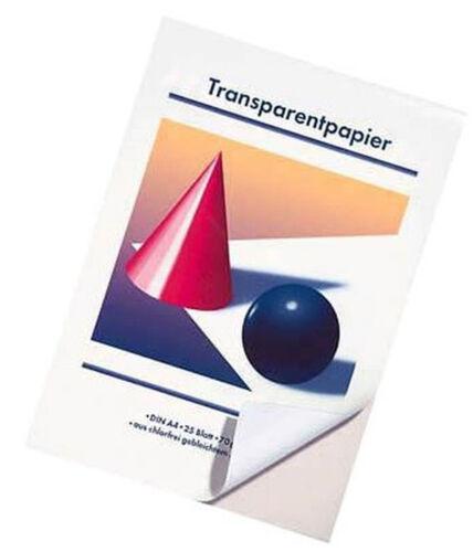 Transparent Papier DIN A4 weiss 70g//m² 25 Blatt technisches Zeichnen Basteln #
