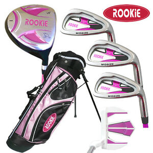 JUNIOR-GOLF-SET-6-PIECE-for-KIDS-6-to-10yrs-HOT-PINK-CHILDRENS-GOLF-CLUBS