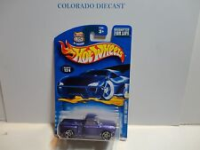 2003 Hot Wheels #124 Purple Custom '69 Chevy Truck w/PR5 Spoke Wheels