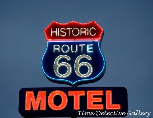 Arizona Historic Route 66 Motel Sign Kingman Giclee Photo Print