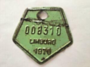Vintage Belgian Bicycle License Plate 1970.