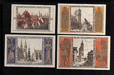 BRAUNSCHWEIG NOTGELD 10,25,50,75 PFENNIG 1921 BLANKENBURG AM HARZ GERMANY 10217