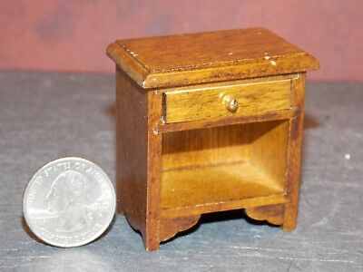 Dollhouse Miniature Night Stand with Drawer Oak PLAY SCALE Y62 Dollys Gallery