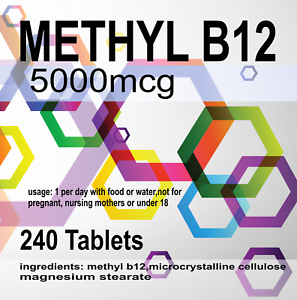 240-X-Haut-Resistance-Methyle-B12-Comprimes-5000mcg-5mg-Vitamin-Methylcobalamine