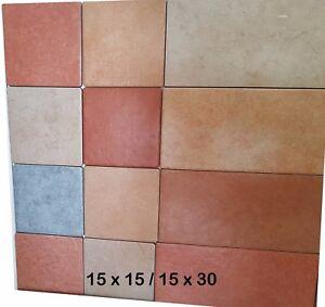 Piastrelle pavimento esterno gres 1a scelta 15 x 15 15 x 30 beige cotto grigio ebay - Piastrelle pavimento esterno ...