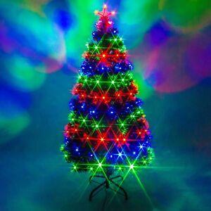 Green Fibre Optic Christmas Tree Remote Control Multi Colour ...