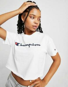 New-Champion-Women-s-Crop-Script-T-Shirt
