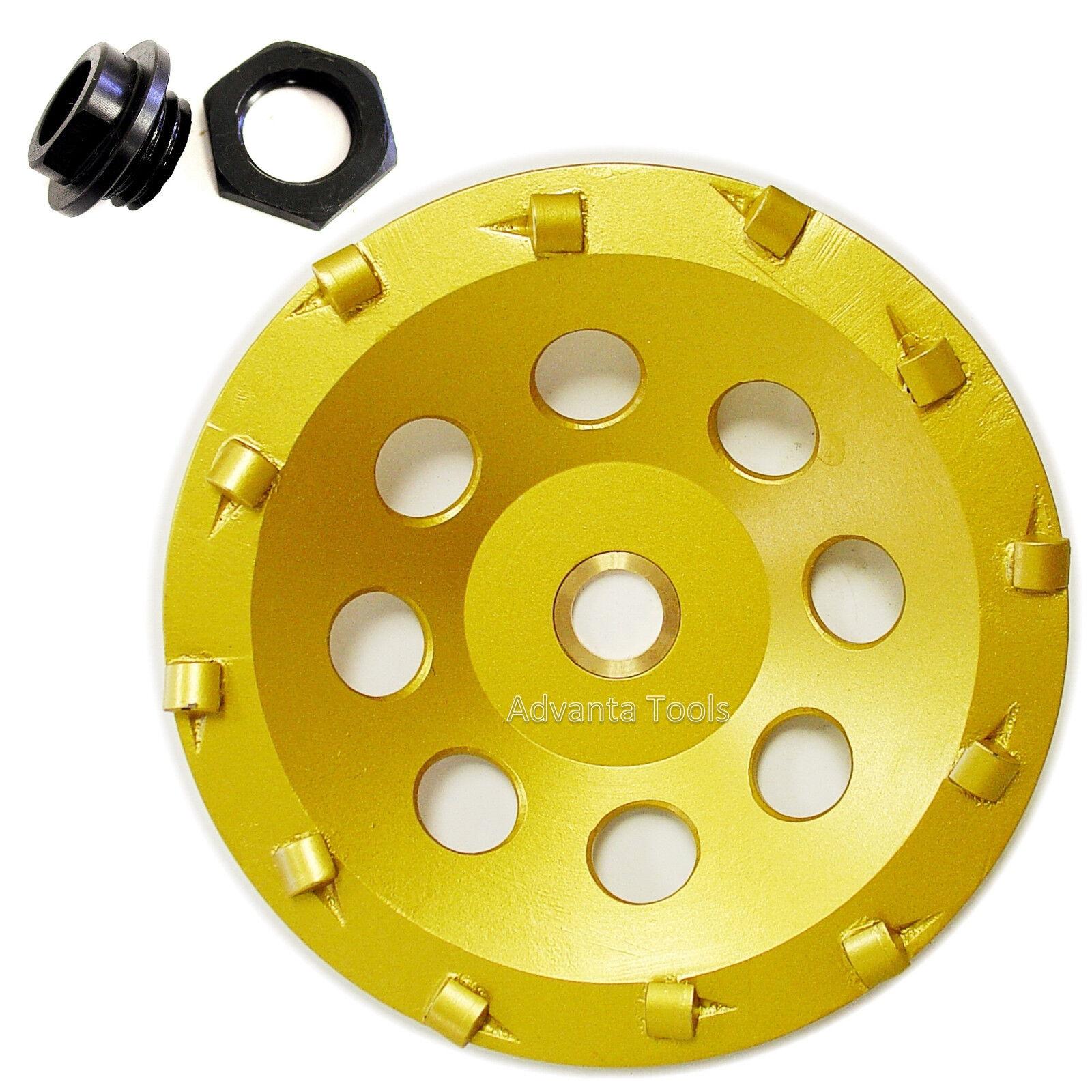 "6"" Quarter Round PCD Grinding Cup Wheel 12 Segments w/ 5/8"