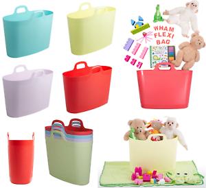 40 L Flexi Sac multi usage Panier à Linge Shopping de rangement de Jardin Bain Jouets Sac