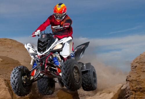 Flag USA Patriot Shock Covers Yamaha Blaster Raptor YFM 250 350 660R New set 3