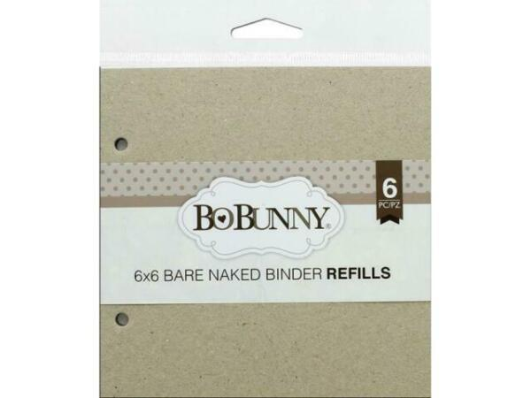 BO BUNNY BBU011725 BARE NAKED CHIPBOARD BINDER REFILL 6X6