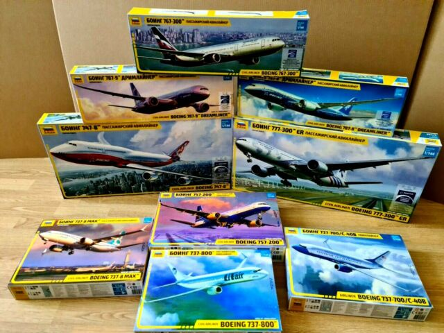 Zvezda Special Boeings Collection - ALL 9 BOEINGS 1/144