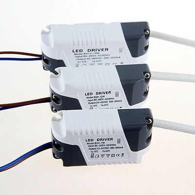 85-265V/24V 300mA LED Driver Transformer Ceiling Tube Light Lamp Power Supply