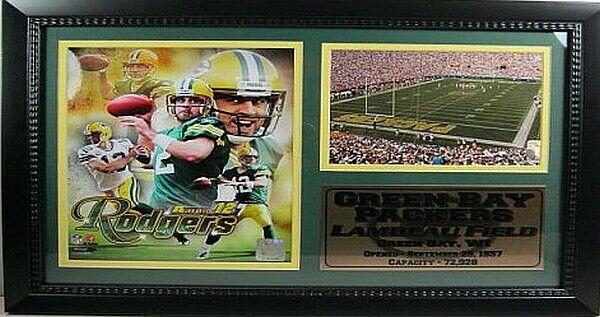 Aaron Rodgers Grün Bay Packers NFL Football 50 cm Wandbild Memorabilia NEU