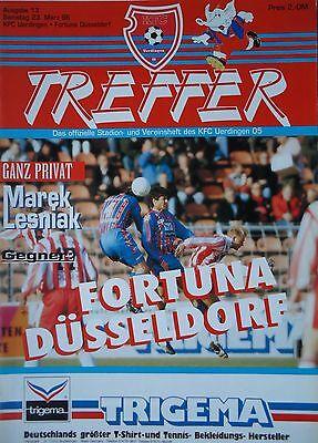 FC Kaiserslautern Programm 1989//90 Bayer 05 Uerdingen
