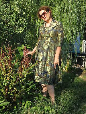 Dedito Vestito Abito Donna Fiori Abito Da Sera Abito Da Sera 60er True Vintage 60s Flower Dress-
