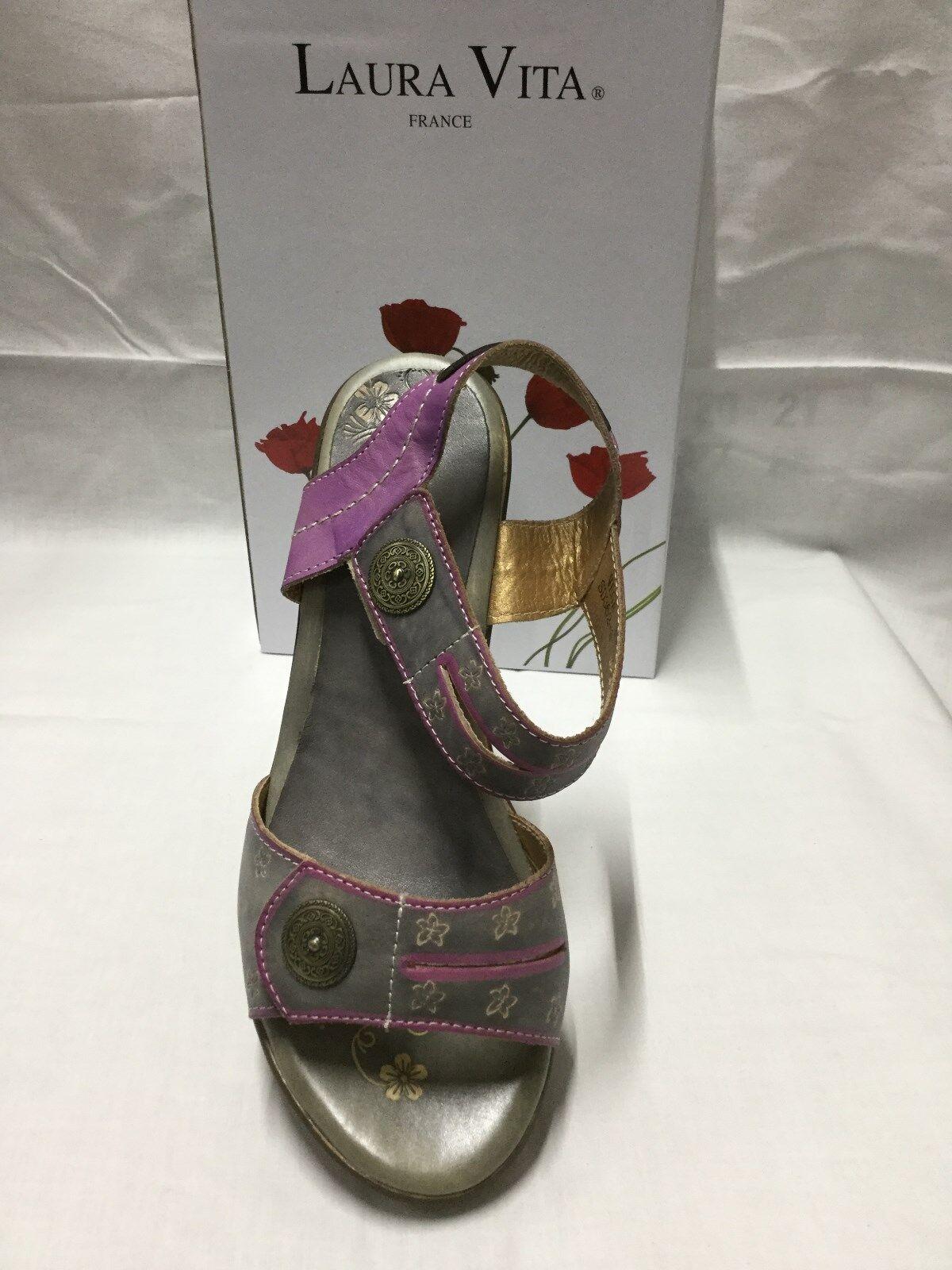 Zapatos señoras Laura Vita Vega gris Tamaño 8 8 8 39 Hecho En Francia  excelentes precios