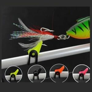 10PC Plastic Fishing Hook Keeper Fishing Lures Bait Fishing Rod Pole Accessories
