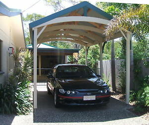 Single carports attractive timber complete kits ebay for Attractive carport