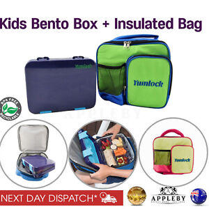 ae97be8b8266 Details about Bento Lunch Box With Kids Insulated Carry Cooler Bag School  Picnic Thermal Tote