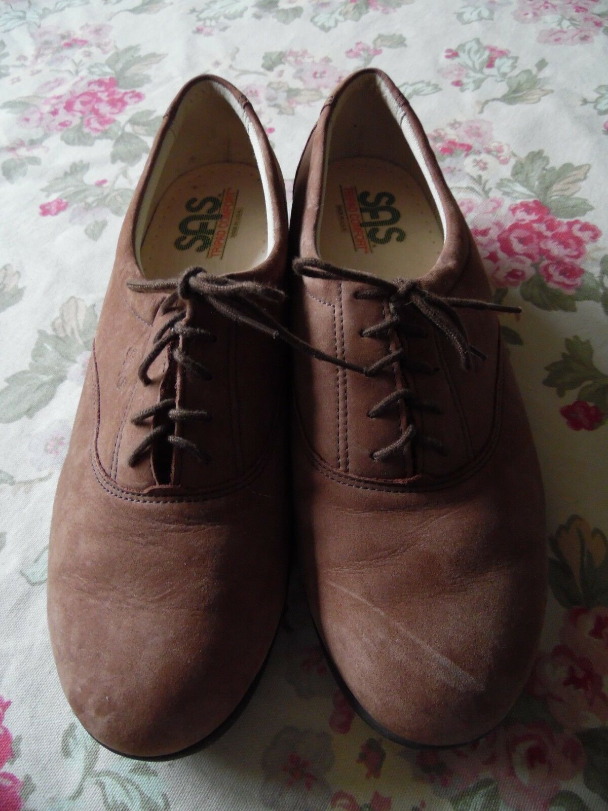 SAS Women's Brown Suede Suede Suede Tripad Comfort Casual Lace Up shoes Size 10(M) Made USA d7a65a