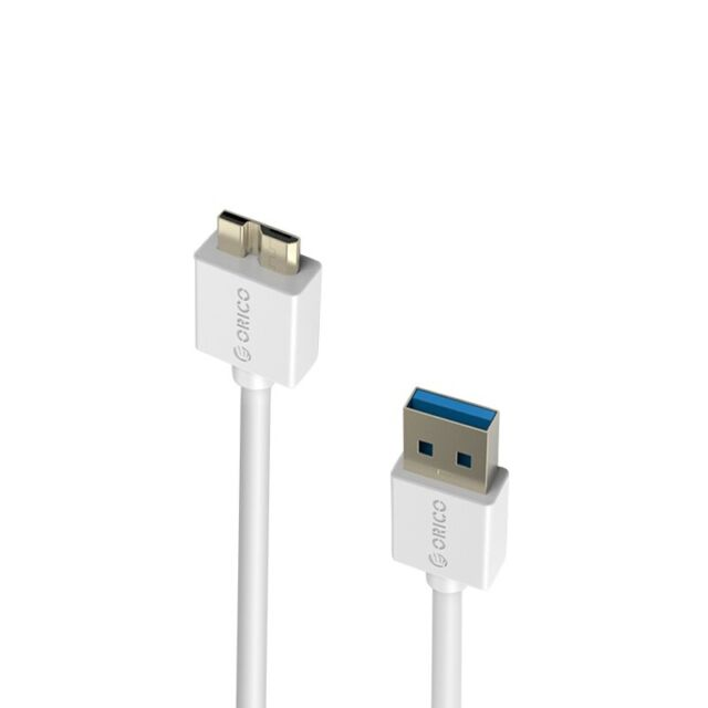 Orico CSR3-10-WH 1m USB 3.0 Data Cable Type A Male to Micro B Male for Porta WP.