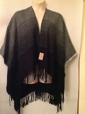ladies poncho with ruffled and pearl border varous colours one size