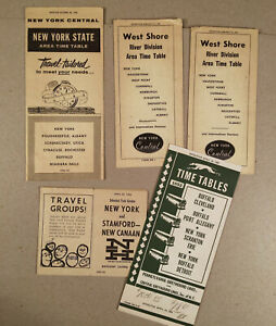 1956 NEW YORK CENTRAL RAILROAD NY State Area Timetable Time Table, Plus 4 More++
