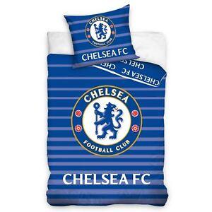 Chelsea-fc-Assorti-Set-Housse-de-Couette-Simple-100-Coton-Europeen-Reversible
