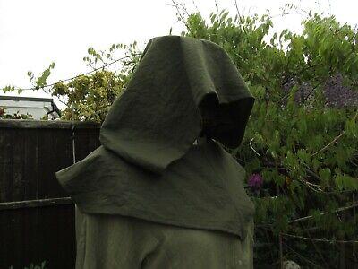 Assassin Hood Medievale Cappuccio Oversize Verde Cotone Larp Arcieri Cosplay Cappuccio-mostra Il Titolo Originale