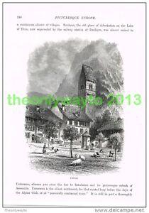 UNTERSEEN-SWITZERLAND-Book-Illustration-Print-c1875