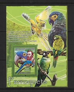 Guinea - Perroquets. 3 x Souvenir Sheets. MNH OG.#02 GUINPERR
