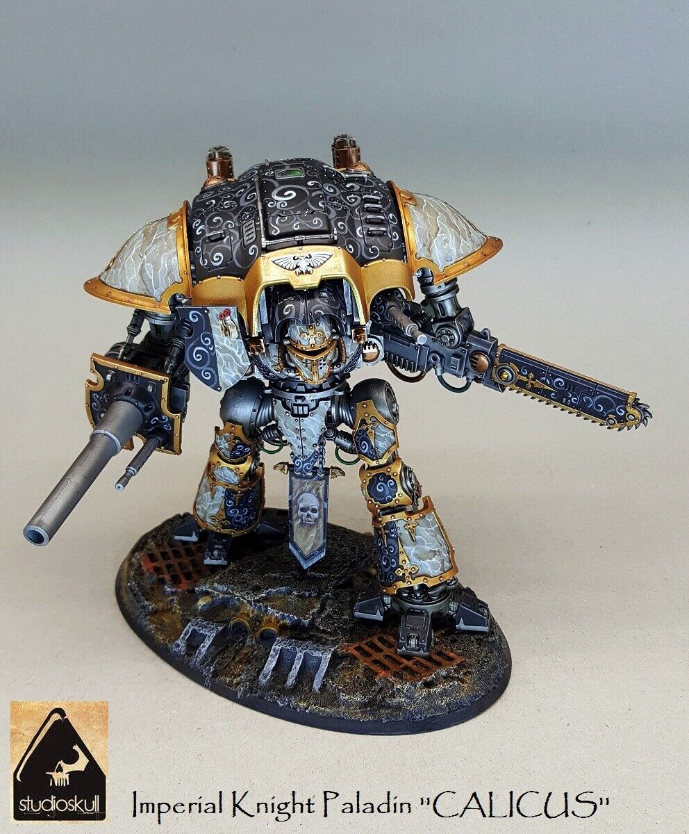 Imperial  Knight PALADIN  Calicus's  painted warhammer 40K  pour pas cher