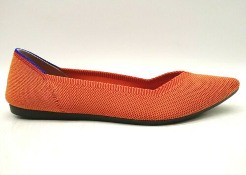 Rothys Persimmon Point Orange Knit Casual Slip On