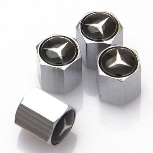 4x Universal Car Auto Tyre Valve Stems Caps Cover Fit For Mercedes-Benz CLS E C