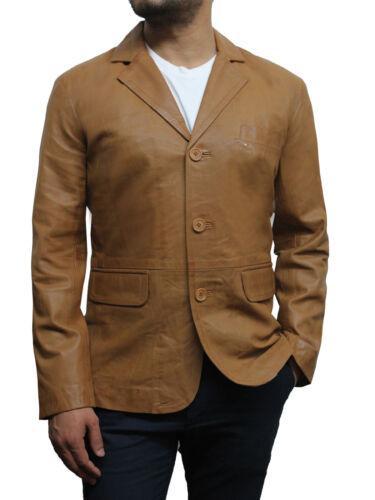 Brandslock Mens Genuine Leather Blazer Vintage